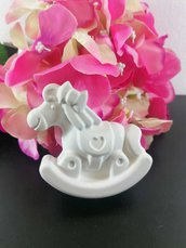 Cavallo a dondolo maxi gesso ceramico profumato per fai da te