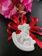 Segnaposto cavallo a dondolo maxi  in gesso ceramico profumato