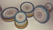 Servizio da tavola 25 pezzi ceramica