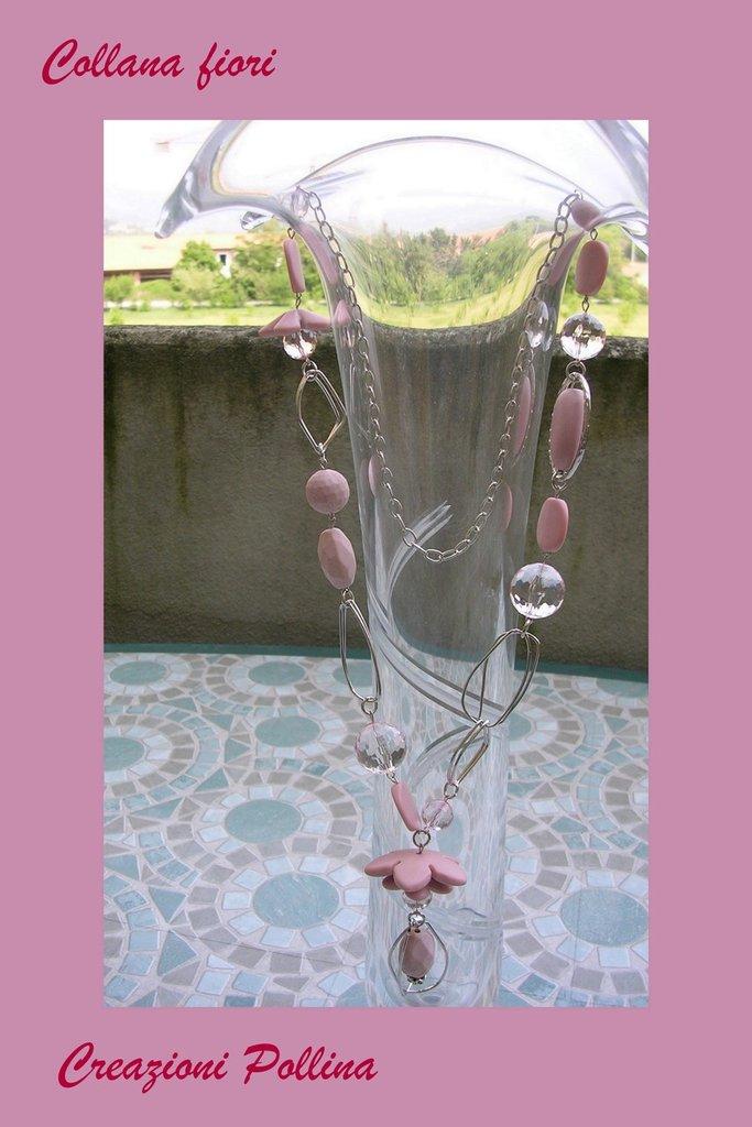 """""""Collana fiori rosa"""""""