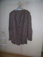 cardigan beige in lana