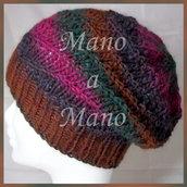 Cuffia - Marrone verde viola