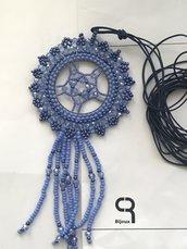 Collana gioiello blu