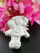 Bambolina maxi gesso ceramico profumato per fai da te