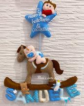 Fiocco nascita Cavallo a Dondolo ❤️ Personalizzato