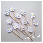 Pick margherite, cupcake topper,