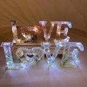 SCRITTA LUMINOSA - LOVE -