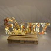 SCRITTA LUMINOSA - FAMILY -