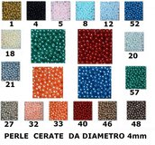 OFFERTA! 1000 Perle cerate Colorate diametro 4mm