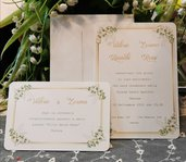 Invito Matrimonio decoro Fiori 2021 con stampa gratis