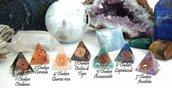 Set Mini Piramidi Orgonite dei 7 Chakra