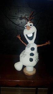 Olaf in feltro fatto a mano