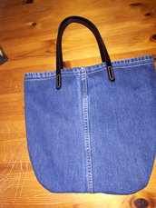 grande borsa jeans donna