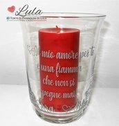 Vaso / Lanterna personalizzato con nomi e dedica! + candela profumata / Romantica idea regalo San Valentino / Anniversario