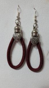 orecchini in sughero