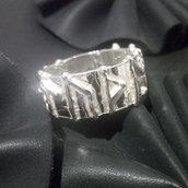 """Anello """"vichingo/fascia runica/vikings/rune"""" in argento 925 fatto a mano A147"""