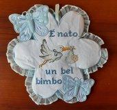 Fiocco nascita bimbo cicogna