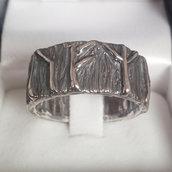 """Anello """"vichingo/runico/vikings/rune"""" in argento brunito 925 fatto a mano AB02"""