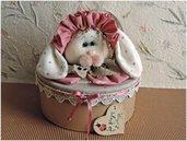 Cartamodello Cuoricina (coniglietta orecchie a pois)