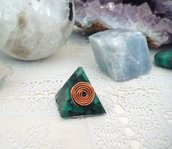 Mini Piramide Orgonite Malachite
