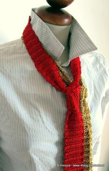 Pattern spiegazione per le CRAVATTE da fare a crochet