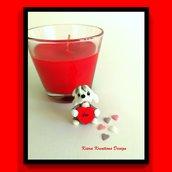 Decorazione con cane bobtail con cuore personalizzato con il nome, idea regalo per san valentino per amanti dei cani