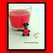Decorazione con cane levriero con cuore personalizzato con il nome, idea regalo per san valentino per amanti del cane levriero italiano