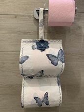 Porta rotoli carta igienica farfalle
