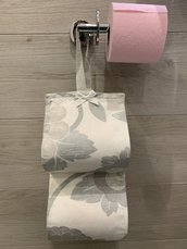 Porta carta igienica floreale verde acqua