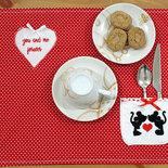 Coppia di tovagliette colazione con minnie e mickey mouse