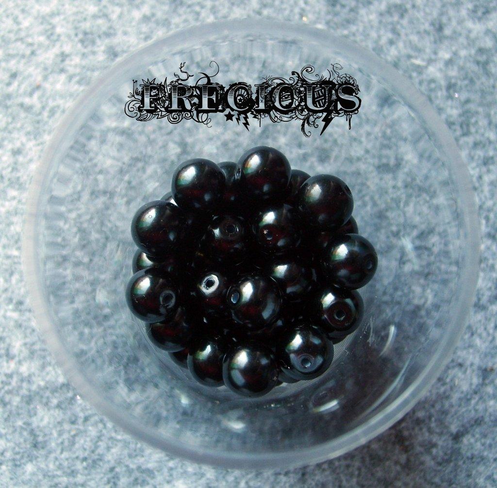 30 perline cerate nere