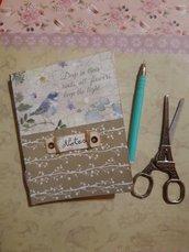 Quaderno taccuino cucito a mano