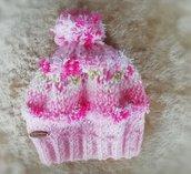 cappellino per neonata
