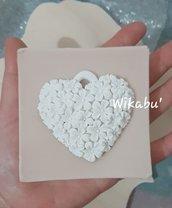 STAMPO cuore con fiorellini san valentino
