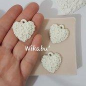 stampo per gesso o resina tris di cuori ideali per san valentino segnaposto ciondolo stampi 3 cuoricini