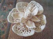 Fiore ad uncinetto decoro tende