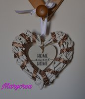 Cuore in vimini Home Sweet Home