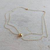 Collana doppia oro giallo 9 carati