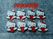 Charms Hello Kitty smaltato rosso
