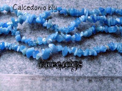 1 strand chips calcedonio blu