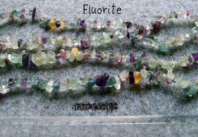 1 strand chips fluorite
