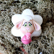 Bomboniera pecorella a calamita