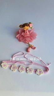 Fascia coroncina bambina con fiori
