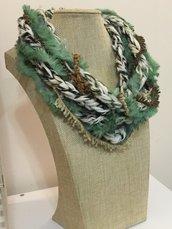 Collana sciarpa  scarf donna scaldacollo regalo