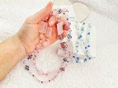 Collana pietre dure color rosa, idee regalo, regalo di compleanno, collana fashion, fatto a mano, idee regalo originali