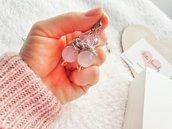 Orecchini con Pietre dure agata rosa sfaccettata, orecchini fashion, idee regalo, regalo di compleanno, orecchini fashion fatti a mano