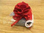 Bomboniera saponetta con fiore per Laurea