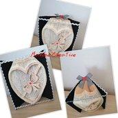 Libro scultura cuore con fiocco