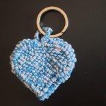 Portachiavi cuore azzurro 3D