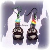 ★★SALDI Orecchini Super Mario - fungo cattivo! fimo e cernit